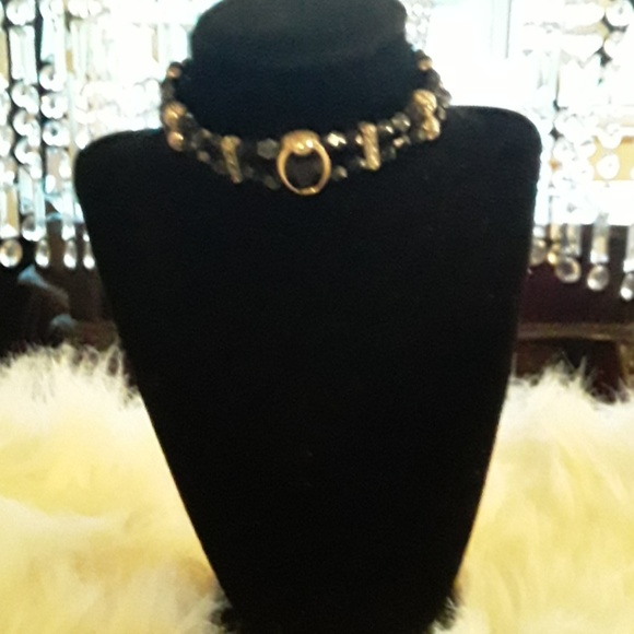 no label Accessories - Black and gold choker